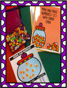 Candy Corn make & Trace Numbers 1-20