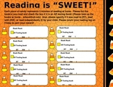Candy Corn reading log with Accelerated reader