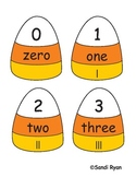 Candy Corn/Halloween/Fall Number Word Match (with tally marks) Center