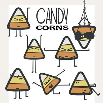 Halloween Candy Corn Clipart