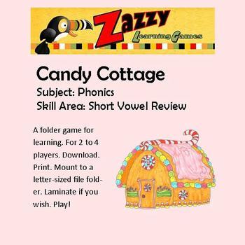 Candy Cottage Folder Game for Short Vowel Review