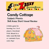 Candy Cottage Folder Game for Short Vowel Review