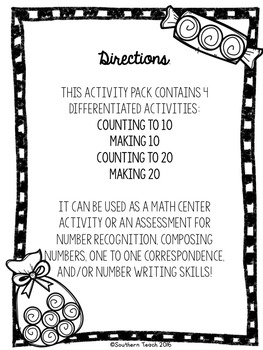 Candy Counting Number Activities
