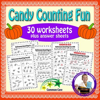 Trick or Treat Counting Halloween Fun Math Worksheets - Gr