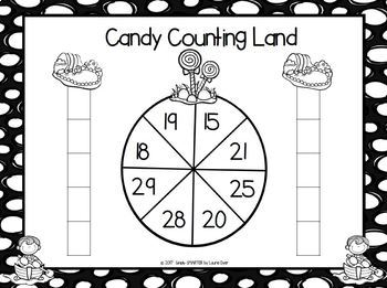 Candy Counting Land:  NO PREP Counting Race to the Top Game