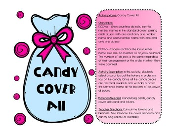 Candy Cover All K.CC.4ab Kindergaten Common Core Station Counting Math