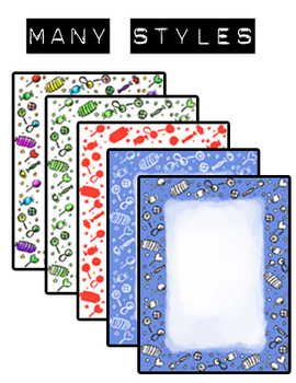 Candy Crush Borders and Clip Art