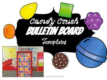 Candy Crush Inspired Bulletin Board Templates