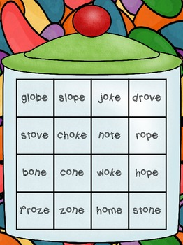 Long Vowel o Words - Candy Crush! (CVCe and CCVCe)