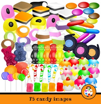 Candy & Cupcakes Tasty Clip Art Mega Pack