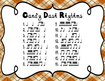 Candy Dash! - Eighth & Sixteenth Note Combinations Rhythm Games