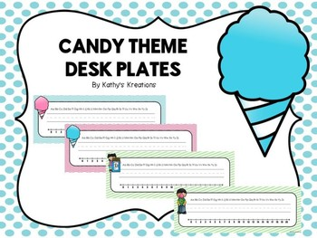 Candy Desk Plates