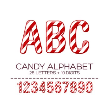 Candy Digital Alphabet - F00001