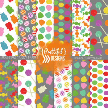 Candy Digital Papers Background