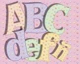 "Candy Dot Alphabet • Caps, Lower Case • Vector PDF • 300 DPI PNG • 5"" High"