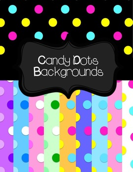 Candy Dots Backgrounds
