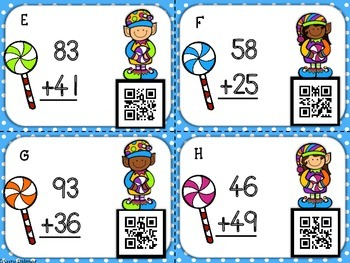 Candy Elves Addition: Double Digit Addition (with Regrouping)