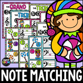 Candy Elves Music Notes Center, Matching, Posters, Treble