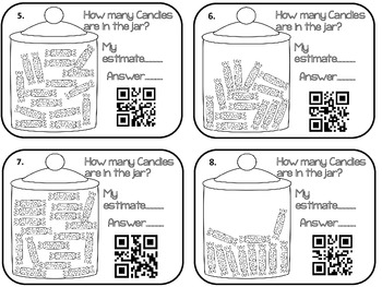 Estimation Worksheets with QR Codes