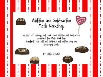 Candy Factory Addition and Subtraction Math Workshop
