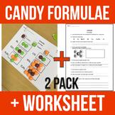 Candy Formulae + Worksheet (2 Pack) - Chemistry