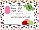 Candy Game Color Sight Word Cards