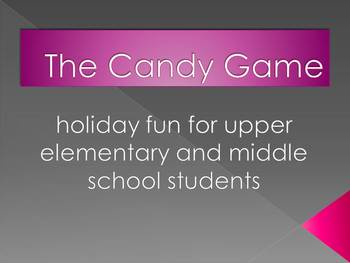 Candy Game - Language Arts based Halloween holiday game