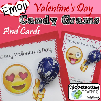 Valentine's Day Candy-Grams and Cards: Emoji Lollipop Holder