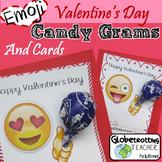 Valentine's Day Cards Candy-Grams: Emoji Lollipop Holder