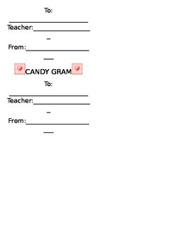 Candy Grams FREEBIE