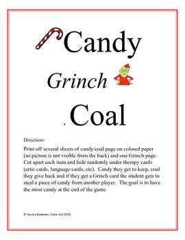 Candy, Grinch, Coal Game