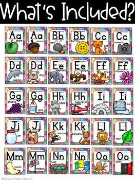 Candy Gumdrops Alphabet - Candy Classroom Decor