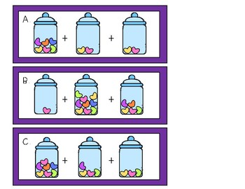 Candy Heart Addition and Subtraction