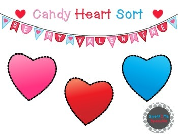 Valentine Candy Heart Color Sort