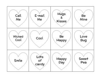 Candy Heart Composition Worksheet