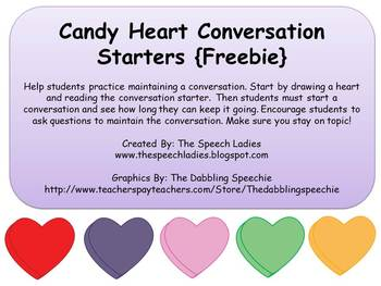 Candy Heart Conversation Starters