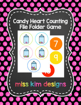 Candy Heart Counting File Folder Game for Early Childhood Special Education