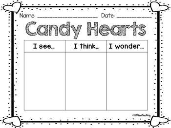 || Candy Heart Craft-ivity || • Valentine's Day Informational Writing •
