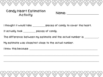 Candy Heart Estimation Activity