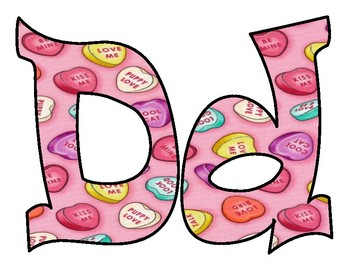 Candy Heart Filled BB letters