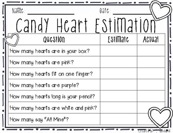 Candy Heart Graphing [Several Versions]