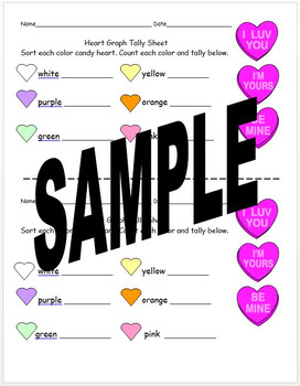 Graphing Activity for Valentine's Day Using Candy Hearts