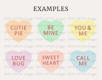 Candy Heart Kit Clipart; Valentine's Day, Dessert