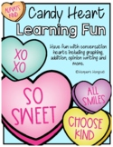 Candy Heart Learning Packet