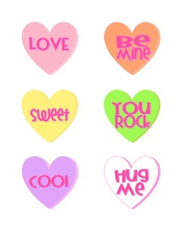 Candy Heart Literacy Station Activities
