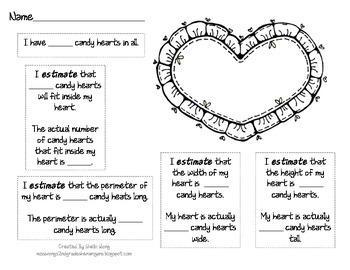 Candy Heart Math - Valentine's Day