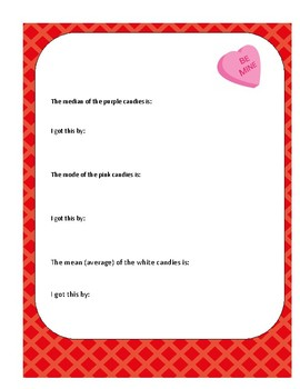 Valentines Candy Heart Math covering multiple strands
