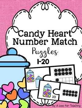 Candy Heart  Number Matching Puzzle {1-20}