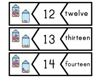 Candy Heart Number Puzzles 0-20