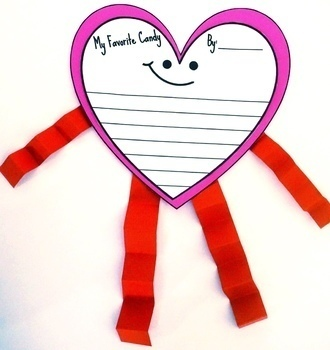 Candy Heart Opinion Writing Pack and Craft